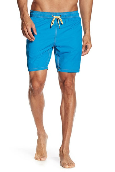 Yale Blue Solid Swim Trunks