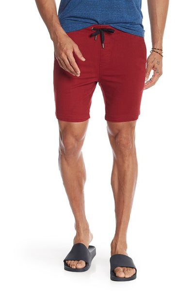 Stretch-Chino Short - Burgundy