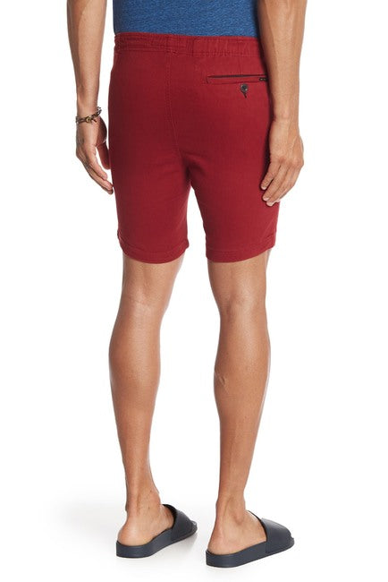 Burgundy Stretch-Chino Short