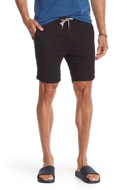 Jet Black Stretch-Chino Short