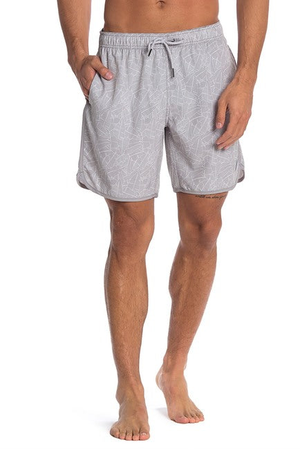 Palms 4-way Stretch Swim Trunks - Grey