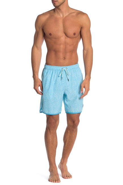 Palms 4-way Stretch Swim Trunks - Light Blue