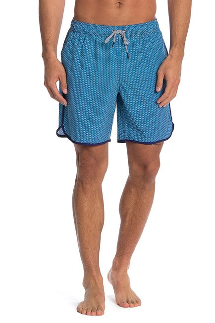 Star Cluster 4-way Stretch Swim Trunks - Light Blue