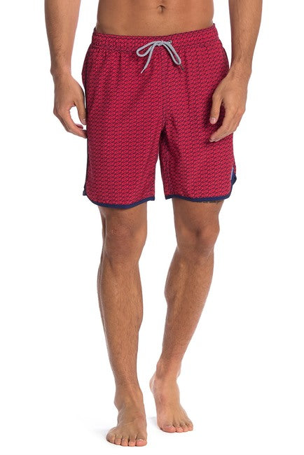 Dolphin 4-Way Stretch Swim Trunks - Bright Red