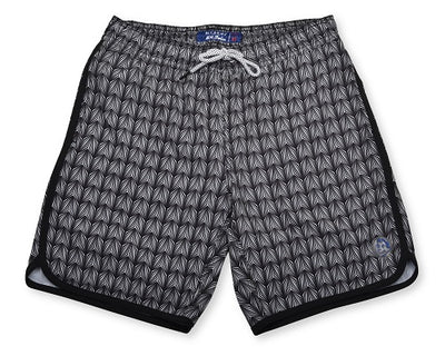 Sea Dragon Scales 4-Way Stretch Swim Trunks - Black