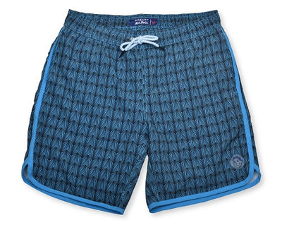 Sea Dragon Scales 4-Way Stretch Swim Trunks - Blue