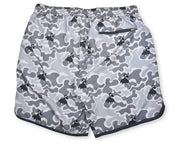 Grey Hula Camo 4-Way Stretch Swim Trunks