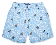 Hula Camo 4-Way Stretch Swim Trunks - Blue
