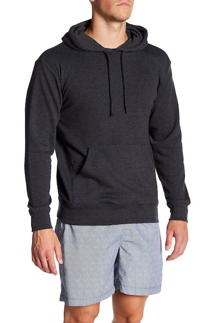 French Terry Hoodie - Black Heather