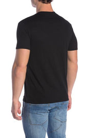 Black Slub Crew Neck Tee