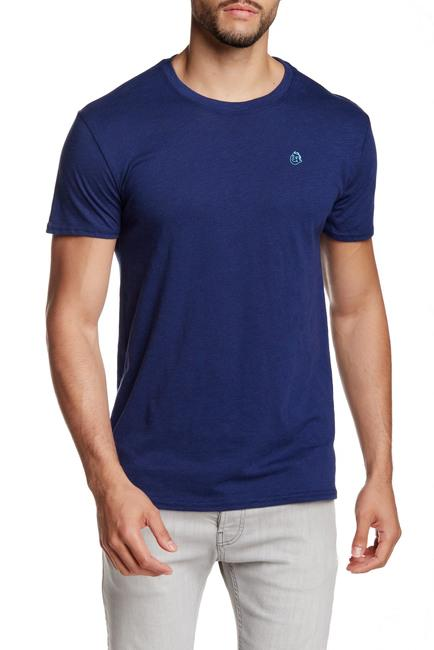 Navy Blue Slub Crew Neck Tee