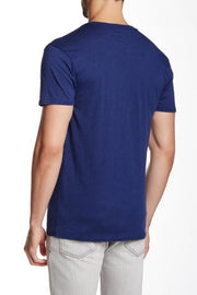 Slub Crew Neck Tee - Navy Blue