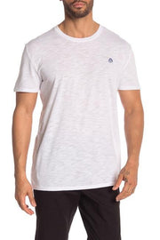 Slub Crew Neck Tee - White