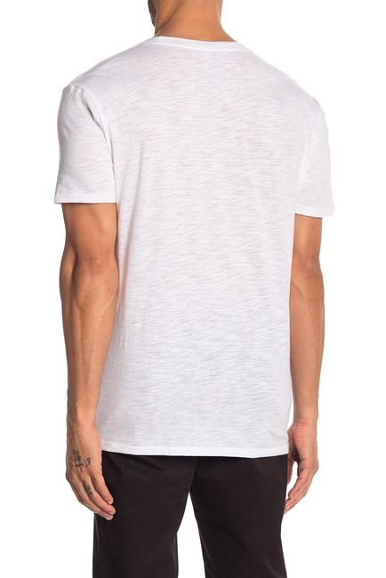White Slub Crew Neck Tee