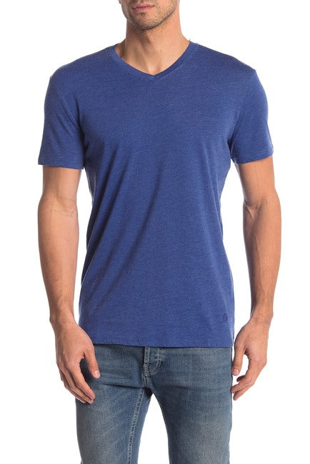 Burnout V-neck Tee - Navy