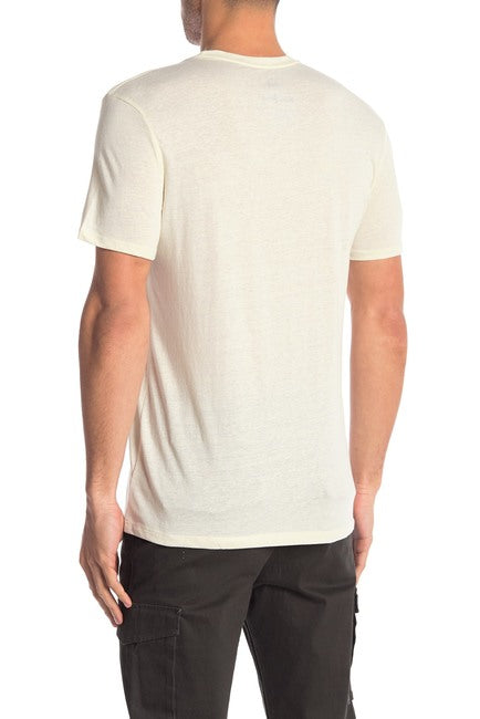 Cream Tri-Blend Crew Neck Tee