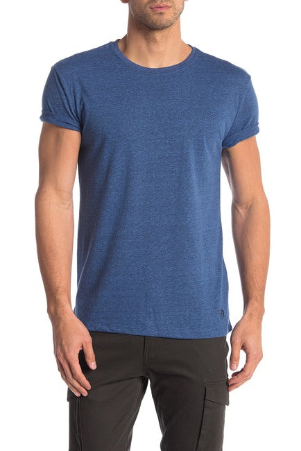 Tri-Blend Crew Neck Tee - Royal Blue and Black