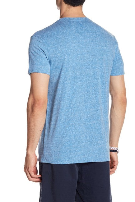 Royal Blue Tri-Blend Crew Neck Tee