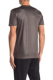 Liquid Jersey Crew Neck Tee - Charcoal Grey