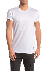 Liquid Jersey Crew Neck Tee - White