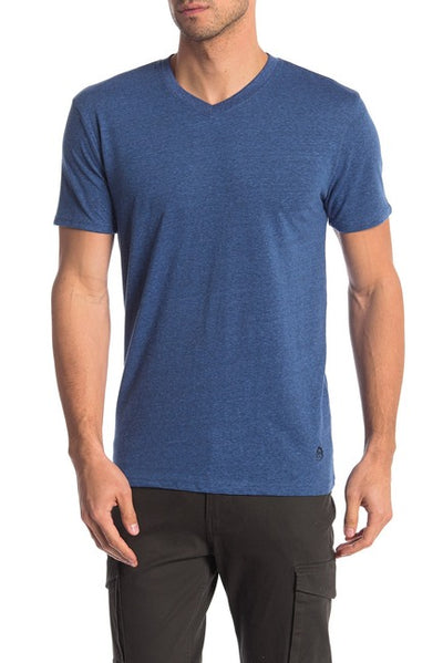 Tri-Blend V-Neck Tee - Royal Blue / Black