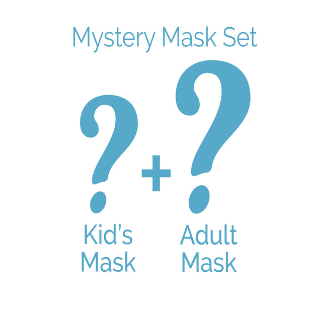 Adult/Kid Face Mask 2 Piece Set - Mystery Bundle
