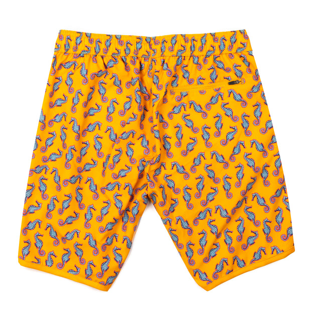 Seahorse 4-Way Stretch Swim Trunks - Orange