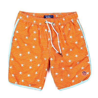 Starfish 4-Way Stretch Swim Trunks - Orange