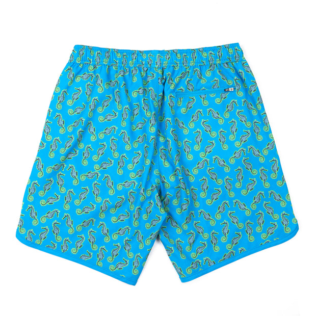 Seahorse 4-Way Stretch Swim Trunks - Blue