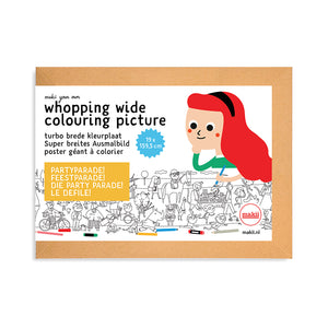 Whopping Wide Colouring Picture Party Parade packaging