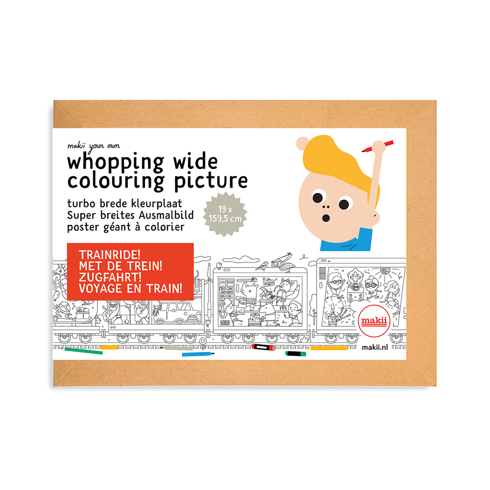 Whopping Wide Colouring Picture Train Ride packaging
