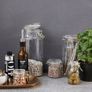 Mini Glass Storage Jar Collection