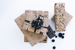 Recycled Kraft Wrapping Paper Gifts - Office