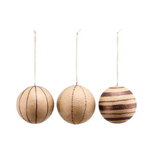 Load image into Gallery viewer, Kraft Paper Christmas Baubles Glitter Brown