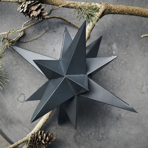 3 Dimensional Iron Christmas Star Ornament