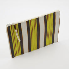 Load image into Gallery viewer, Recycled Plastic Toiletries Bag Retro Stripes angle