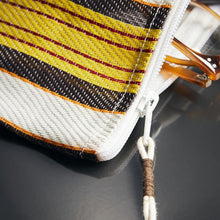 Load image into Gallery viewer, Recycled Plastic Toiletries Bag Retro Stripes detail