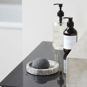 Charcoal Konjac Sponge on tray