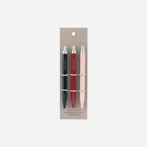 Black Ink Pens, Set of 3