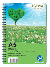 Load image into Gallery viewer, Recycled Paper Notebook A5 with cover