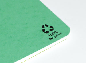 Recycled Paper Notebook A5 close up