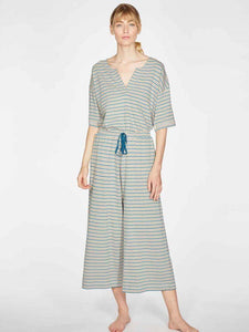 Stripy Hemp Organic Cotton Jersey Pyjama Set Front