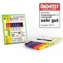 Load image into Gallery viewer, Felt-tip Pens Set of 9 PLUS 1 Eraser Pen