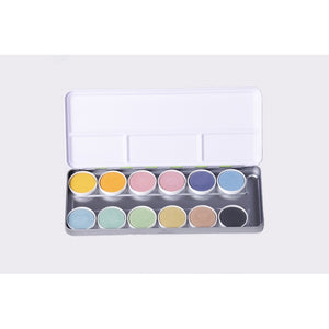Palette of 12 Watercolours from Renewable Raw Materials NAWARO