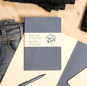 Recycled Jeans Notebook A5