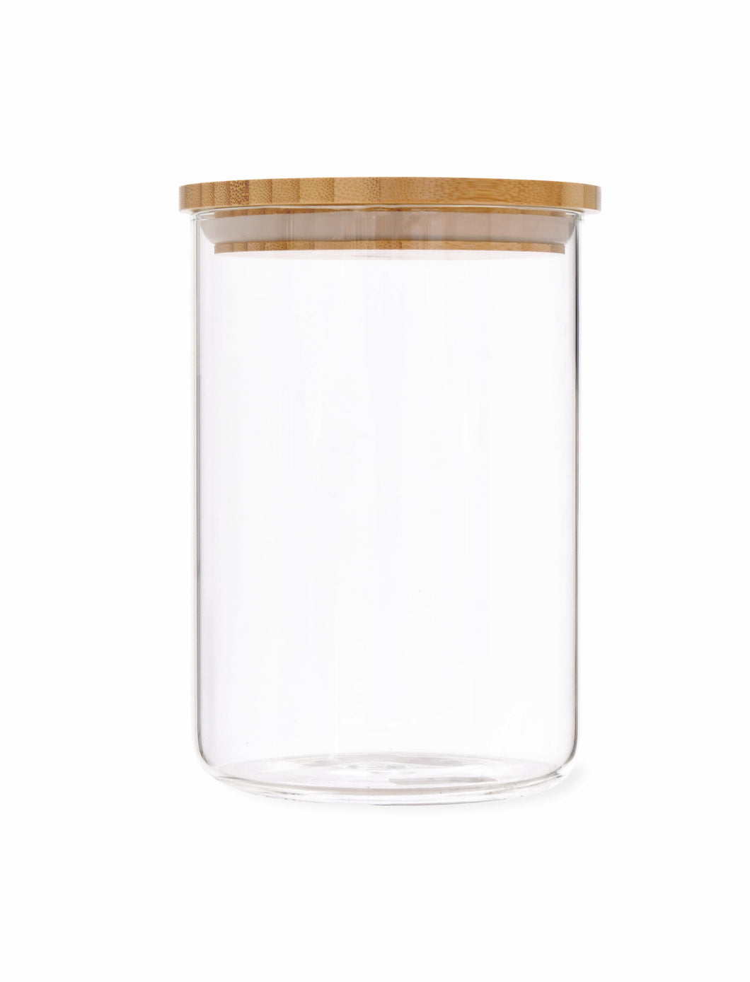 Glass Storage Jar with Bamboo Lid Medium