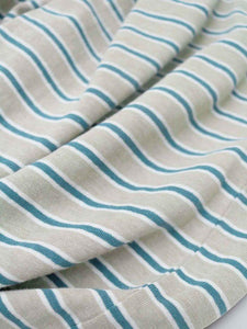 Stripy Hemp Organic Cotton Jersey Pyjama Set Closeup