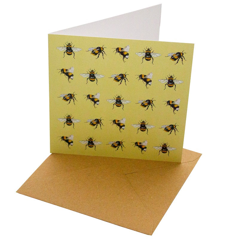 Recycled Paper Card Bees