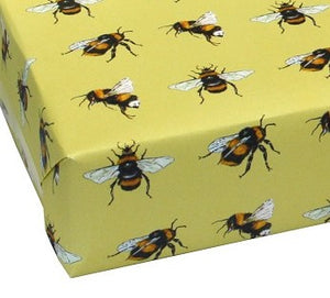 Recycled Wrapping Paper Bees