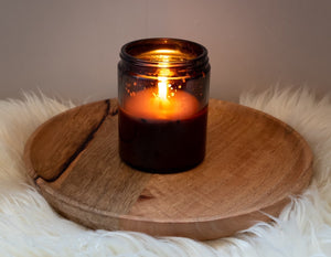 Grounding Scented Soy Candle Burning